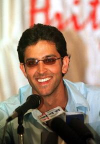Hrithik Roshan at the press conference in Calcutta.