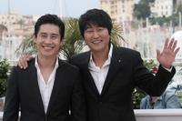 Shin Ha-kyun and Song Kang-Ho at the photocall of