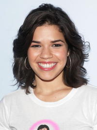 America Ferrera at the MTV studios in New York City.