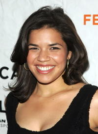 "America Ferrera at the premiere of ""Towards Darkness"" in New York City."