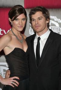 Jennifer Carpenter and Michael C. Hall at the 66th Annual Golden Globe Awards.