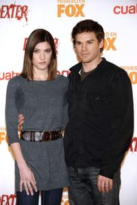 Jennifer Carpenter and Michael C. Hall at the