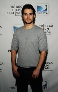 Henry Cavill at the DIRECTV Tribeca Press Center.
