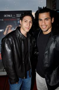 Leo Minaya and Franky G. at the special screening of
