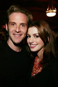 Malcolm Gets and Anne Hathaway at the party of Encore! BASH.