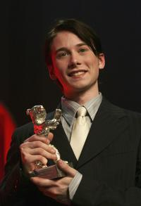 Lou Taylor Pucci at the award ceremony during the 55th annual Berlinale International Film Festival.