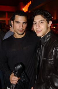 Franky G. and Leo Minaya at the screening of