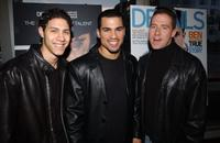 Leo Minaya, Franky G. and Director Eric Eason at the screening of