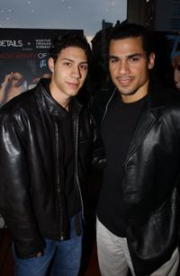 Leo Minaya and Franky G. at the screening of