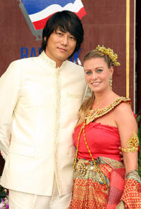 Kang Sung and publicist Charlotte Dodson at the