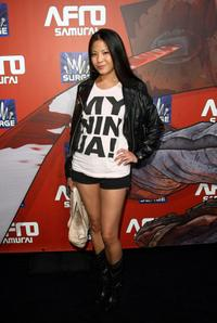 Karin Anna Cheung at the Afro Samurai Video Game Launch.