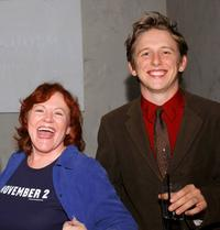Edie McClurg and Hank Harris at the premiere of