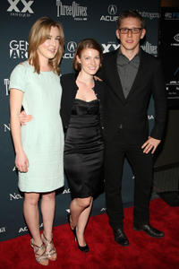 Anna Margaret Hollyman, director Liliana Greenfield-Sanders and Hank Harris at the premiere of