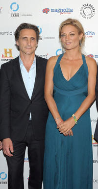 Lawrence Bender and Lucy Walker at the premiere of