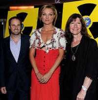 Jeff Skoll, Lucy Walker and Diane Weyermann at the premiere of