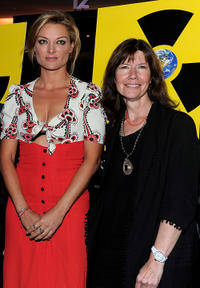Lucy Walker and Diane Weyermann at the premiere of
