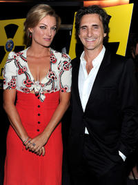 Lucy Walker and Lawrence Bender at the premiere of