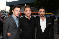 Matthew Beard, Marton Csokas and Joshua Sasse at the Los Angeles premiere of