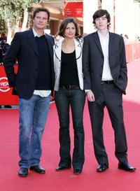 Colin Firth, Livia Giuggioli and Matthew Beard at the 2nd Rome Film Festival.