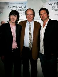 Matthew Beard, Jim Broadbent and Colin Firth at the private screening of