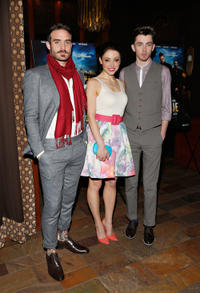 Joshua Sasse, Leah Gibson and Matthew Beard at the New York premiere of