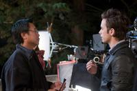Director James Wong and Justin Chatwin in