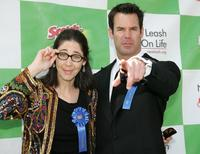 Brooke Dillman and Tuc Watkins at the New Leash On Life's 5th Annual Nuts for Mutts dog show.