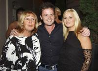 Jonathan Wilkes' mother, Declan Donnelly and Kerry McFadden at the Jonathan Wilkes 26th Birthday Party.