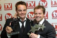 Anthony McPartln and Declan Donnelly at the TV Quick and TV Choice awards.