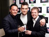 Anthony McPartlin, Robbie Williams and Declan Donnelly at the British Comedy Awards 2005.