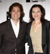 Director Rupert Goold and Kate Fleetwood at the 74th Annual Drama League Awards Ceremony in New York.