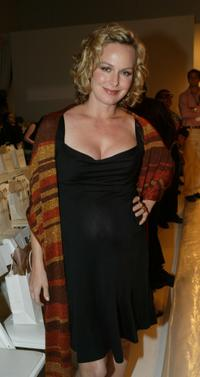 Melora Hardin at the Kate O'Connor Spring 2005 show during the Mercedes-Benz Fashion week.