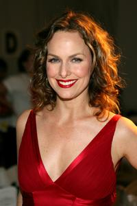 Melora Hardin at the Dina Bar-El Fall 2007 fashion show during the Mercedes Benz Fashion week.