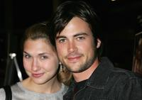 Matt Long and his wife Lora at the premiere of