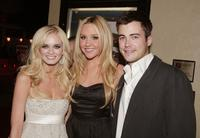 Sara Paxton, Amanda Bynes and Matt Long at the premiere of