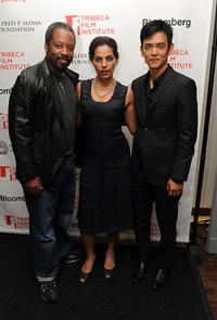Kadeem Hardison, Sarita Choudhury and John Cho at the TFI Awards Ceremony during the 2010 Tribeca Film Festival in New York.