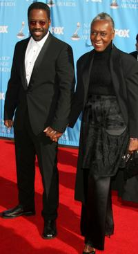 Kadeem Hardison and his mother at the 38th annual NAACP Image Awards.