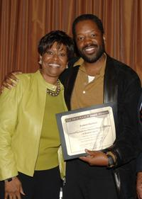 Clayola Brown and Kadeem Hardison at the 38th Annual NAACP Image Awards nominees luncheon.