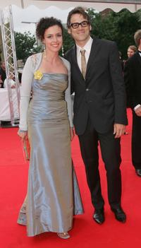 Maria Schrader and Sebastian Blomberg at the Deutscher Filmpreis Awards.