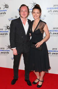 Tom Budge and Guest at the 2010 Samsung Mobile AFI Awards in Melbourne.