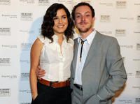 Singer-song writer Missy Higgins and Tom Budge at the Australia premiere of