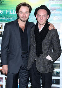 Matt Newton and Tom Budge at the Opening Night of St Kilda Film Festival in Melbourne.