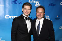 Aaron Tveit and Norbert Leo Butz at the after party of Broadway opening night of