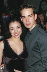 Anel Lopez Gorham and Christopher Gorham at the WB Networ's 2001 All-Star Party.