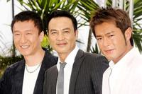 Sun Hong Lei, Simon Yam and Louis Koo at the photocall of