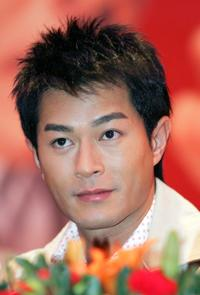 Louis Koo at the press conference to promote sock products of the Zhenhan Socks Industry Co., Ltd.