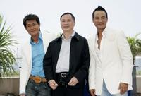 Louis Koo, director Johnny To and Simon Yam at the photocall of
