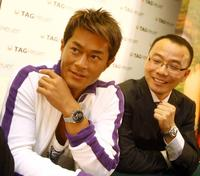 Louis Koo and Guest at the press conference to promote watch products for Swiss luxury brand TAG Heuer watch.