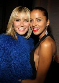 Heidi Klum and Noemie Lenoir at the after party of