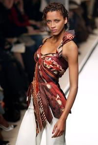 Noemie Lenoir at the 2002 Haute Couture Collections.